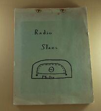 Vintage Antique RADIO STARS SCRAPBOOK Philco 1940s RARE Handmade One of a Kind!