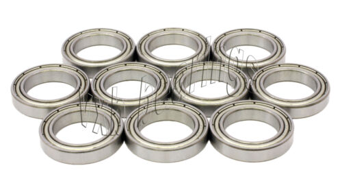 Lot 10 Radial Ball Bearings 8x14x4 Stainless Shielded