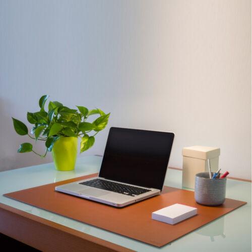 Aufbau aus Stahl Gleitschutz cm 90x60 Schreibtischunterlage Leder Schwarz