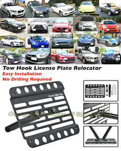 EOS For 12-Up Audi A6 C7 NO PDC Full Sized Front Bumper Tow Hook License Plate