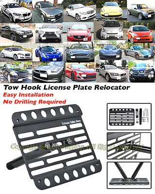 Multi Angle Tow Hook Mount License Plate Bracket Audi S6 PDC 13-16 C7