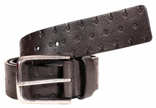 New Mens Spot Stud Textured Real Genuine Leather Pin Buckle Belts S-3XL