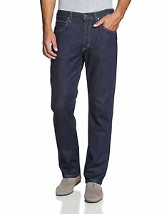 2beb5ced New Lee Brooklyn Men's Stretch Jeans Straight Leg One Wash Indigo ...