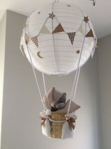 Details About Me To You Teddy In A Hot Air Balloon Nursery Light Shade Made Order