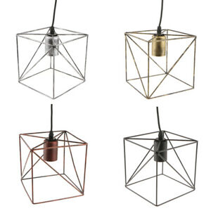 Cube-Lamp-Cage-Ceiling-Light-Shade-Lampshade-Pendant-Lights-Fixture-Home-Decor