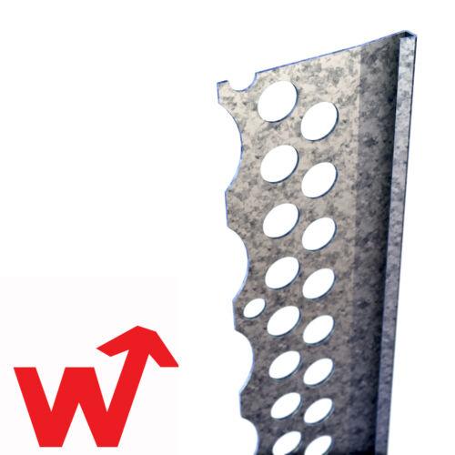 3mm Plaster 2.4m 50x Catnic Drywall Stop Bead Galvanised Steel