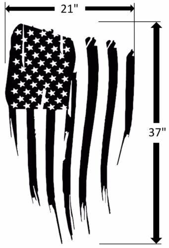 Fits Jeep Wrangler NEW USA AMERICAN FLAG Blackout Hood Vinyl Car Truck Decal