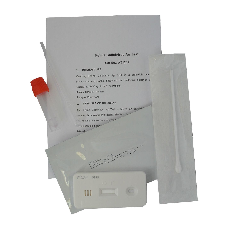 10 x Feline Cat Calicivirus Infection(FCV) Vet Home Mouth & Nasal Swab Test Kits