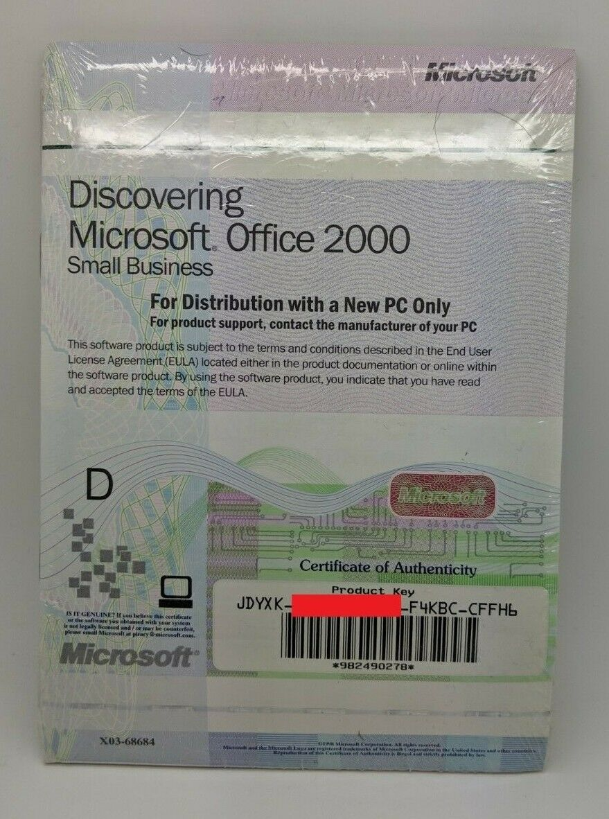 Details about Microsoft Office 2000 Small Business Original Genuine Key &  Disc SEALED