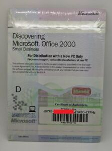 Bien Informé Microsoft Office 2000 Small Business Original Genuine Key & Disc Sealed-afficher Le Titre D'origine Une Performance SupéRieure