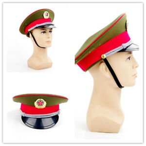 China Military officer Captain s Visor Hat Chinese Army Caps ... dbeda5e2822