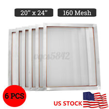 6 Pack 20 X 24 Aluminum Frame Silk Screen Printing Screens Press With 160