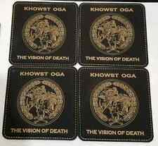 CIA Khowst Afghanistan OGA Camp Chapman FOB Black Leather Coasters Set of 4