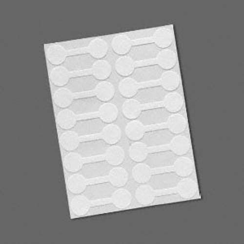 16 White Mylar 9//16 inch Round Shark-Skin Jewelry Adhesive Sticker Label Tags