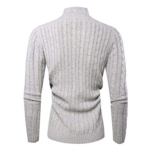 Men/'s Slim Fit Knitted Sweater Turtle Neck Men Turtleneck Sweaters jumper Tops