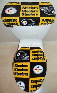 Image Is Loading Nfl Pittsburgh Steelers Block Fabric Toilet Seat Cover