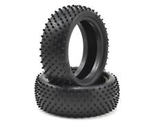 """2 Silver Schumacher Racing U6777 /""""Mini Pin/"""" 2.2 1//10 4WD Buggy Front Tires"""
