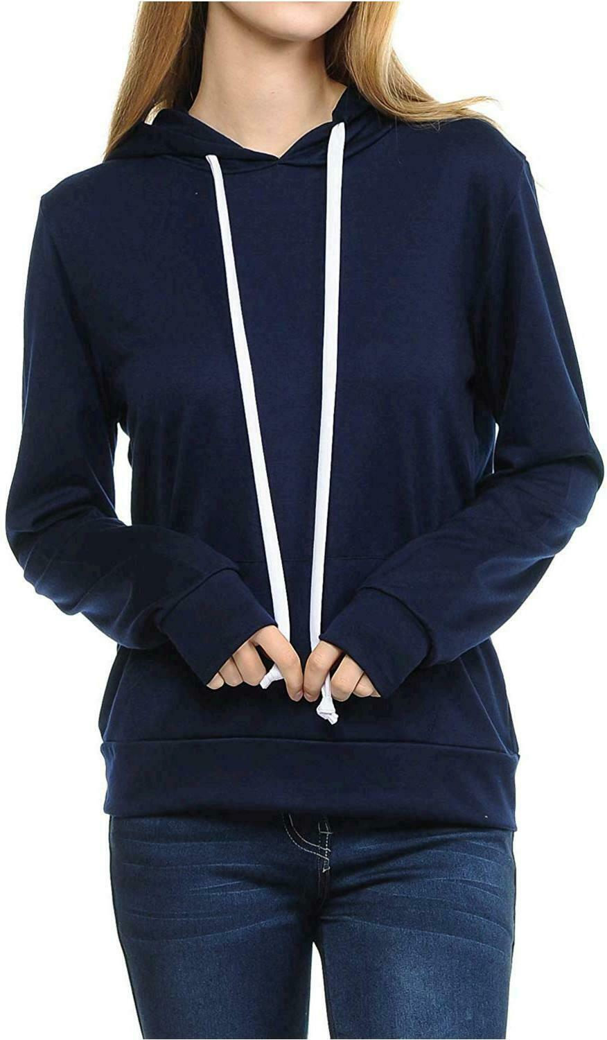 SSOULM Women's Casual Long Sleeve Pullover Hoodie with, No Color, Size No Size
