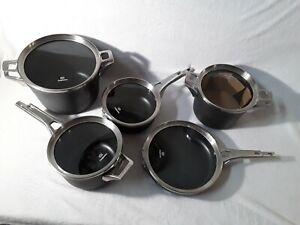 Calphalon Premier Hard Anodized Non-Stick Cookware Set lids new in great shape