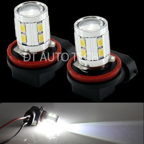 2X H11 6000K 5630 Chip Cree High Power LED Projector Fog Light Lamp