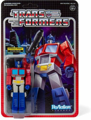 "SUPER7 Transformers ReAction Optimus Prime Action Figure 3.75/"" NEW"