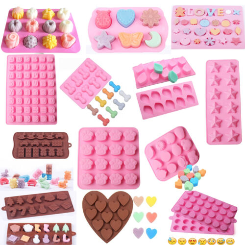 DIY Silicone Chocolate Mold Cake Candy Cookie Cube Mould Pastry Baking Cake Tool