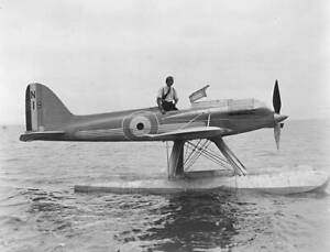 OLD-LARGE-PHOTO-AVIATION-HISTORY-the-Supermarine-S5-N-219-seaplane-c1930