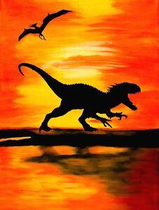 034-Indominus-Rex-Sunset-034-Jurassic-World-Limited-Edition-Art-Print