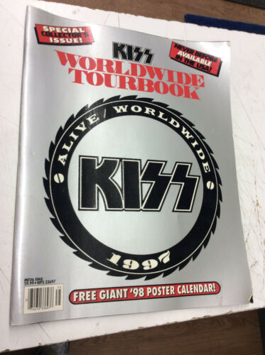 KISS Alive World Wide 1997 Special Collectors Issue W// Poster!