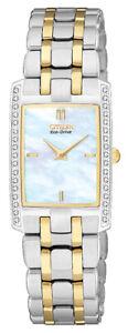 Citizen Eco-Drive Women's Stilleto Diamond Accents 20mm Watch EG3174-53D