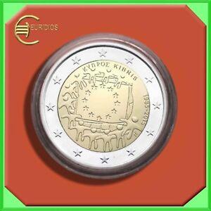 2-Euro-Gedenkmuenze-Zypern-2015-Coin-Coins-034-EU-Flagge-034-BU