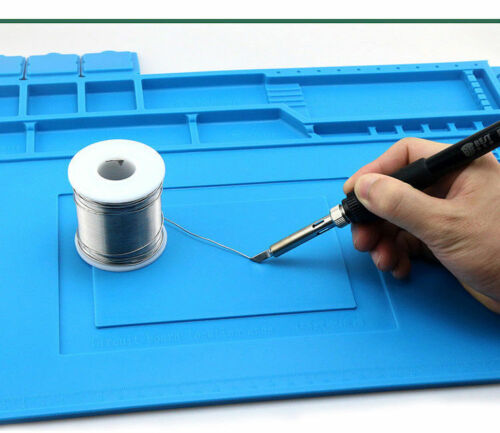 Anti Static Heat Insulation Silicone Desk Mat with Magnetic Section 45x30 cm New