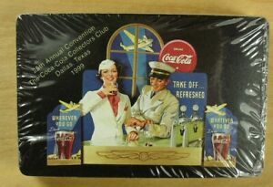 1999 Annual Coca-Cola Collector's Club Dallas TX Sealed Deck Of Playing Cards