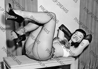 Vintage Photo re-print Wall Art Print of Vintage 1950s Pin-up Bettie Page