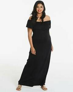 c119caabf5d Image is loading Simply-Be-Black-Bardot-Maxi-Dress-Size-20