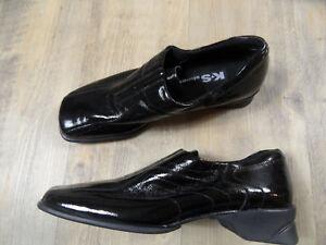 K-S-Kennel-Schmenger-Slippers-schwarz-Lackleder-Gr-5-38-TOP-ST318