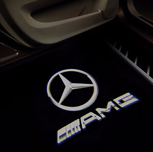 Details about 2 X Car Door Courtesy AMG LOGO PROJECTOR Puddle Light  Mercedes For A45 NEW STYLE
