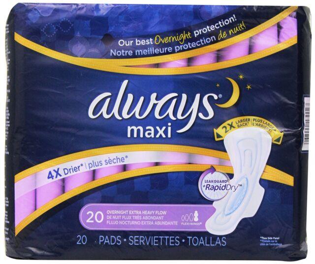 Always Extra Resistente de Noche Maxi Almohadillas con Flexi-Wings - 20 Count