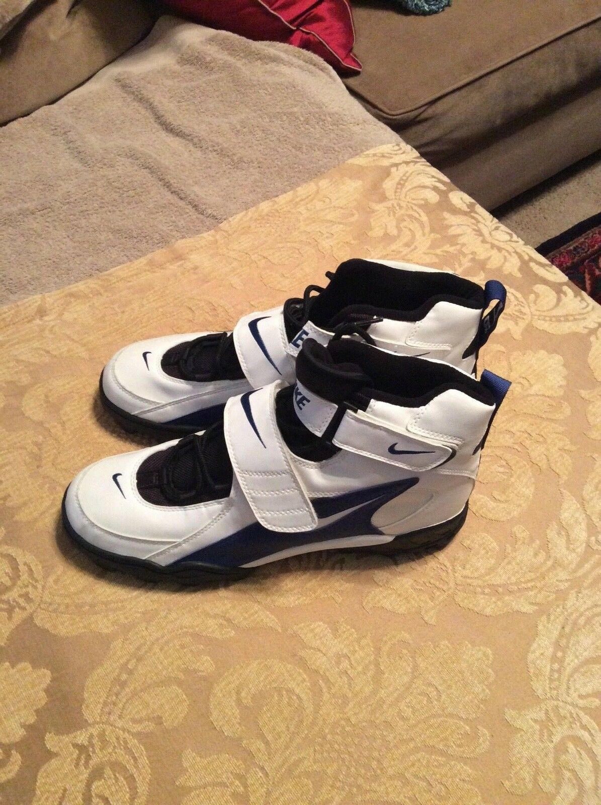 hombre nike pro aire azul y High blanco High y Top Football cleats comodo 0e900c