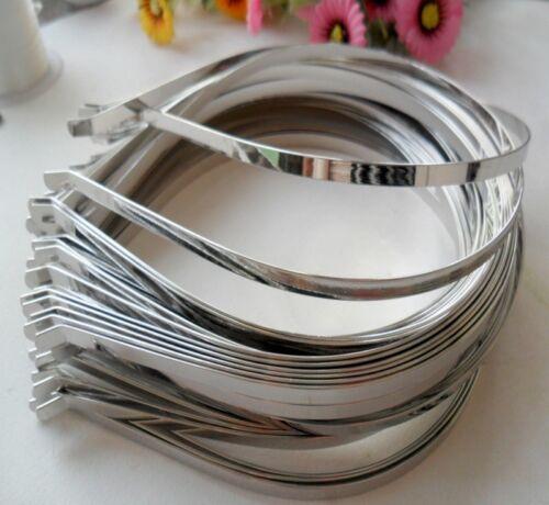 10pcs Plain Silver Metal Alice Band Hair Band Blank Headband DIY 3 4 5 7 mm