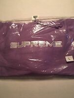Supreme Sequin Logo Hooded Sweatshirt Dusty Lavender L Large Ss17