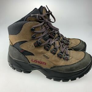 9a21956b66f Details about Lowa Gore-Tex Waterproof Hiking Boots women's 6 1/2 brown  Hunting Rugged