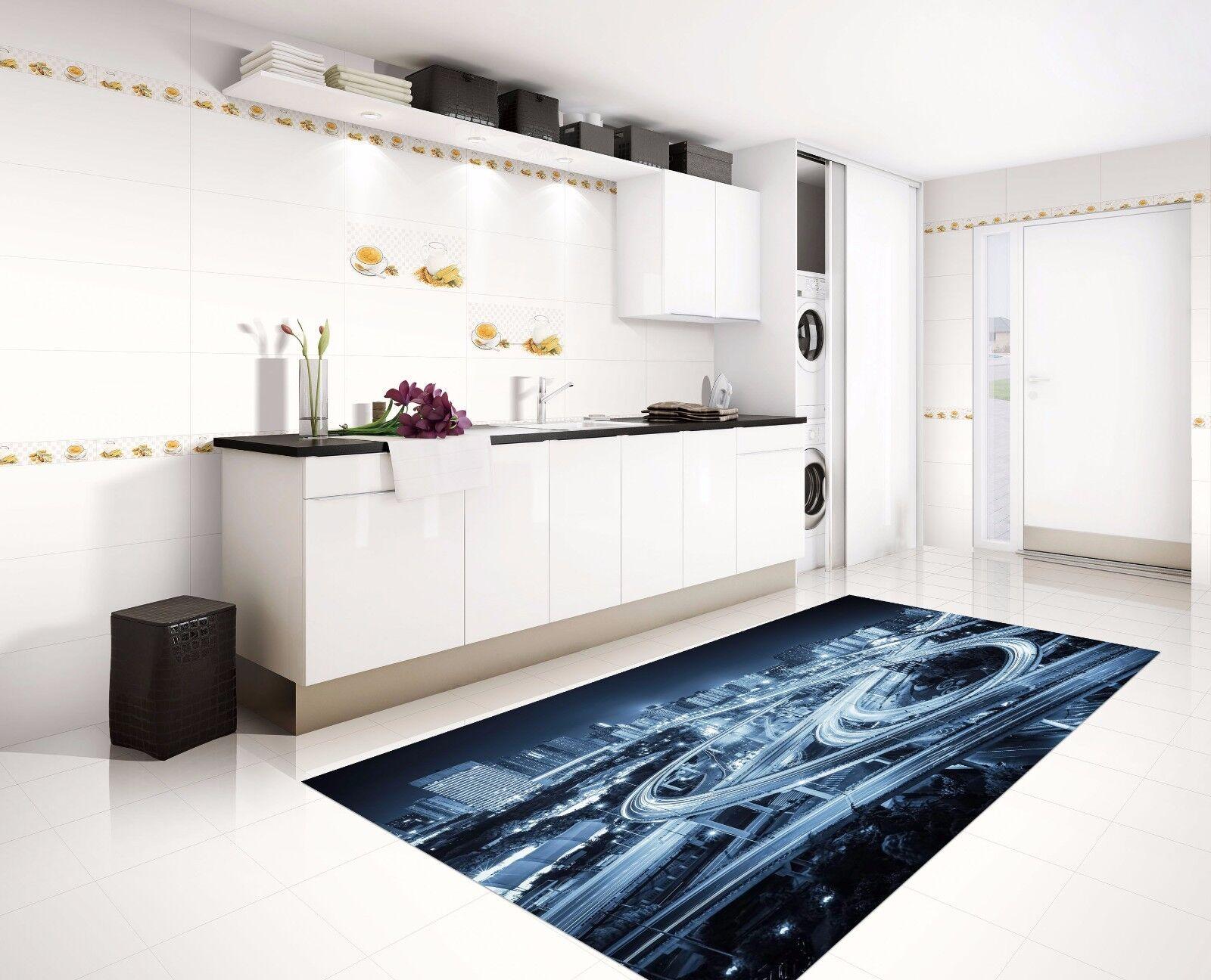 3d City Road Kitchen Mat Floor Murals Wall Print Wall Aj Wallpaper