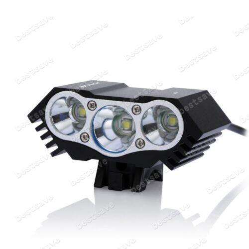 4x18650 T6 B0606 NKTECH N3 3x Bulb XML U2 LED Bike Bicycle HeadLamp Head Light