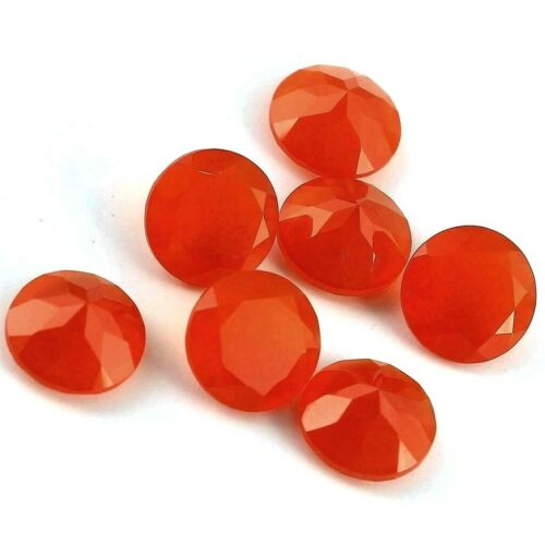 Wholesale Lot 5mm to 10mm Round Faceted Natural Carnelian Loose Calibrated Gems