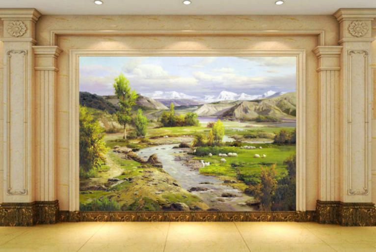 3D Lawn Trees 459 Wallpaper Murals Wall Print Wallpaper Mural AJ WALL AU Lemon