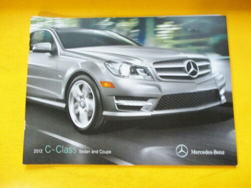 2012 MERCEDES-BENZ C-CLASS SEDAN AND COUPE  SHOWROOM SALES BROCHURE...24=PAGES