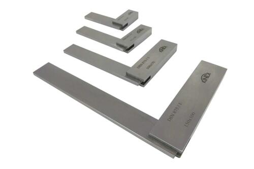 """Kinex 4026-12-4PC Set of Machinist Square 2-3//8/"""" 3/"""" 4/"""" and 6/"""" DIN 875//1"""