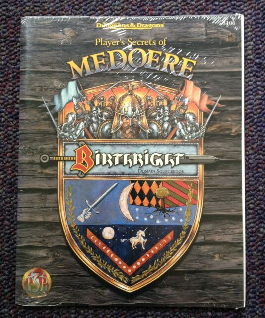 Player's Secrets of Medoere (new/SW) Birthright Dungeons & Dragons TSR 3106