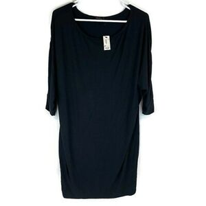 The Limited Women's Size Small Solid Black Polyester Tunic 3/4 Sleeve Blouse Top